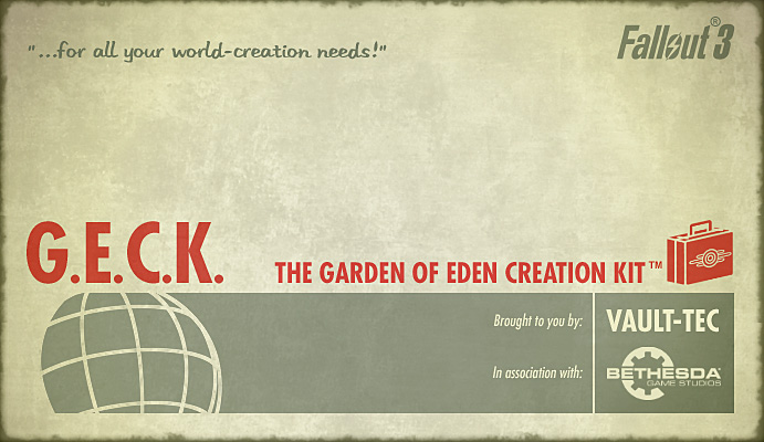 G.E.C.K. - Garden of Eden Creation Kit