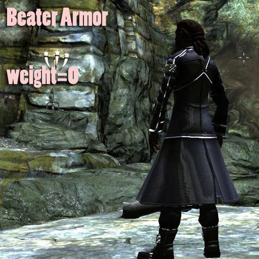Beater Armor is Kirito